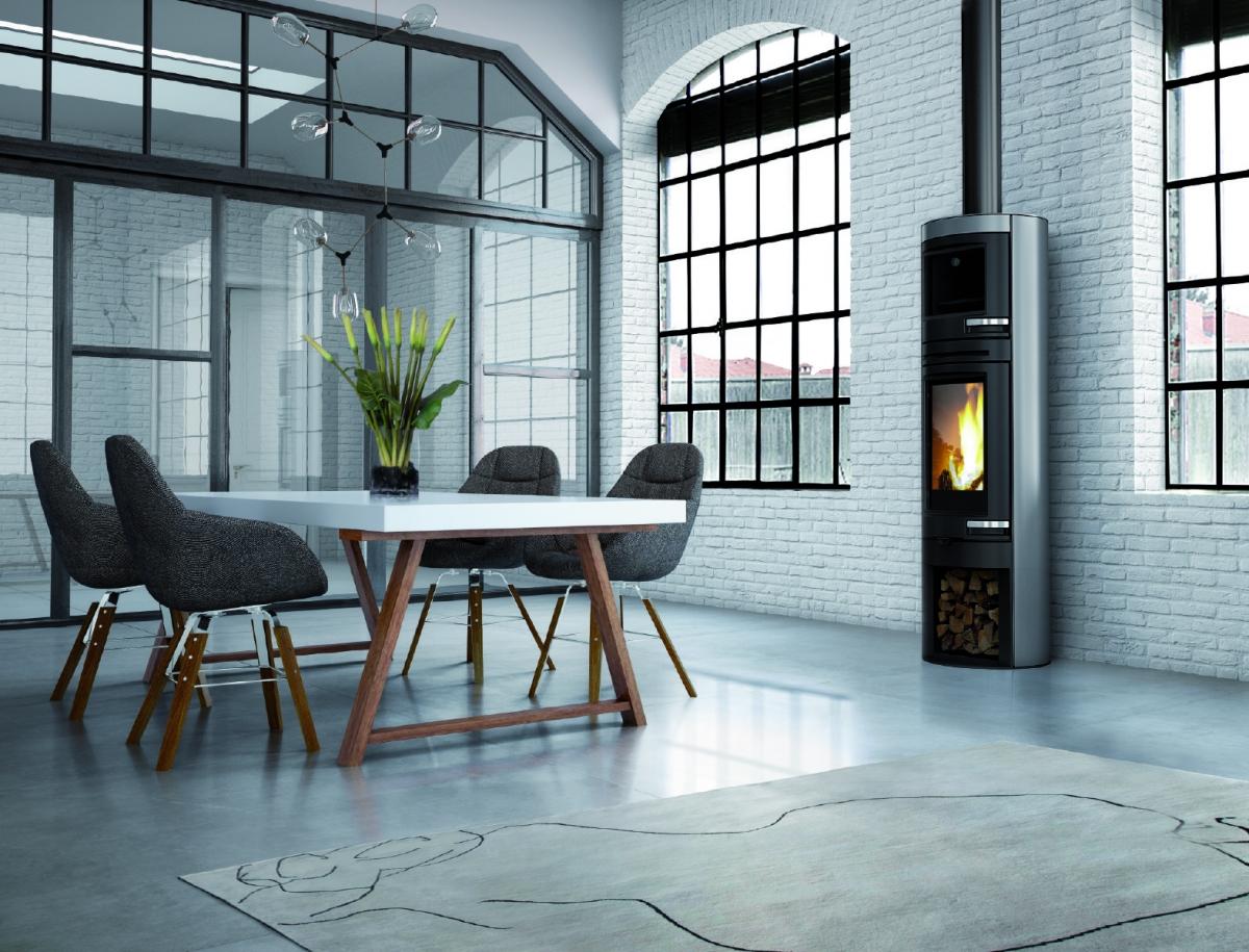 wood stove and oven